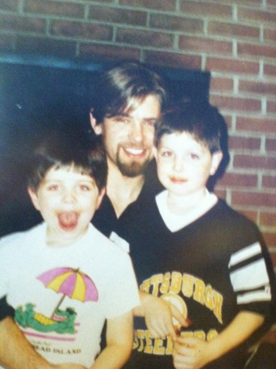 Steve Kaczynski (center) with Aaron (left) and Steven Jr. (right)